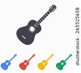 guitar icon  vector... | Shutterstock .eps vector #265525658