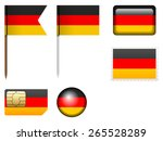 Germany Flag Set On A White...