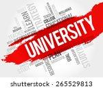 university word cloud ... | Shutterstock .eps vector #265529813