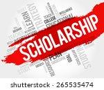 scholarship word cloud ... | Shutterstock .eps vector #265535474