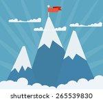 three shining mountain peaks on ... | Shutterstock .eps vector #265539830