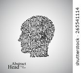 circuit board human head  eps... | Shutterstock .eps vector #265541114