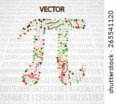 pi technology shape eps10.... | Shutterstock .eps vector #265541120