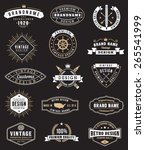 collection of fifteen vintage... | Shutterstock .eps vector #265541999