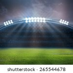stadium in lights and flashes | Shutterstock . vector #265544678