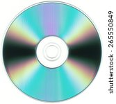 isolated cd or dvd silhouette | Shutterstock . vector #265550849
