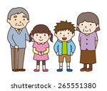 family set   grandchildren and... | Shutterstock .eps vector #265551380