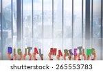 hands showing digital marketing ... | Shutterstock . vector #265553783