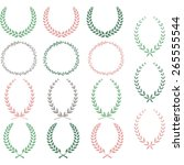 laurel wreaths hand drawn... | Shutterstock .eps vector #265555544
