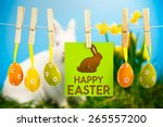 Happy Easter Greeting Against...