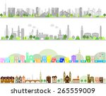 city and factory  | Shutterstock .eps vector #265559009