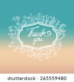 vector floral card with wreath... | Shutterstock .eps vector #265559480