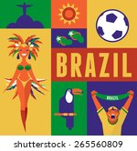 Brazil. Poster And Background...