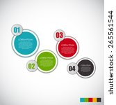 infographic templates for... | Shutterstock .eps vector #265561544