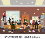 working atmosphere in the... | Shutterstock .eps vector #265563113