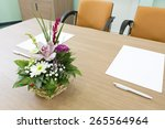 papers on table ready to be... | Shutterstock . vector #265564964