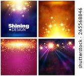 Set Of Flash Shining Vector...