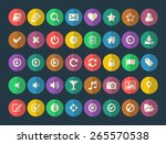 set of 40 vector mobile or web...