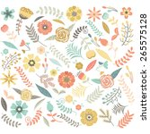 wedding  floral seamless pattern | Shutterstock .eps vector #265575128