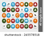 dimensional bright flat buttons ... | Shutterstock .eps vector #265578518