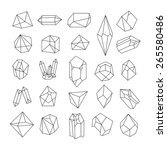 set of geometric crystals.... | Shutterstock .eps vector #265580486