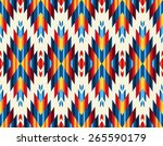 tribal seamless colorful... | Shutterstock .eps vector #265590179