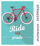 retro bike poster | Shutterstock .eps vector #265590620