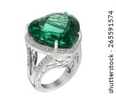 Green Gem Stone Classic Ring....