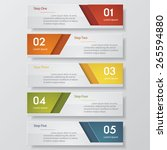 design clean number banners... | Shutterstock .eps vector #265594880