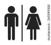 toilet a man and a lady sign | Shutterstock .eps vector #265595300