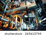 equipment  cables and piping as ... | Shutterstock . vector #265613744