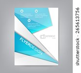 professional business flyer... | Shutterstock .eps vector #265613756