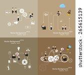 vector illustration of teamwork ... | Shutterstock .eps vector #265615139