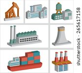 industry icons design three... | Shutterstock .eps vector #265617158