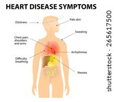 heart disease. signs and... | Shutterstock .eps vector #265617500