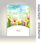 flyer  brochure or magazine... | Shutterstock .eps vector #265619054