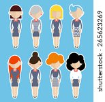business women standing still. | Shutterstock .eps vector #265623269