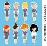 business women standing still. | Shutterstock .eps vector #265623269