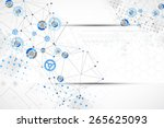 abstract geometry blue color... | Shutterstock .eps vector #265625093