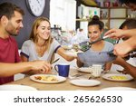 group of friends enjoying... | Shutterstock . vector #265626530