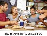 group of friends enjoying... | Shutterstock . vector #265626530