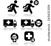 icon set showing health related ...   Shutterstock .eps vector #265631504