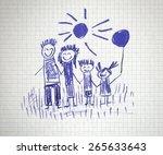 happy family | Shutterstock . vector #265633643