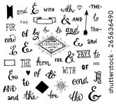 vintage style hand lettered... | Shutterstock .eps vector #265636490