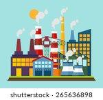 industrial buildings.  | Shutterstock .eps vector #265636898