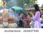 Vietnamese Girl Praying In...