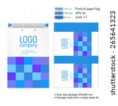 vertical corporate white paper... | Shutterstock .eps vector #265641323