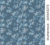 seamless floral pattern with...   Shutterstock .eps vector #265643273