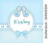 baby shower card. vector... | Shutterstock .eps vector #265645304