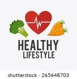 fitness design over white... | Shutterstock .eps vector #265648703